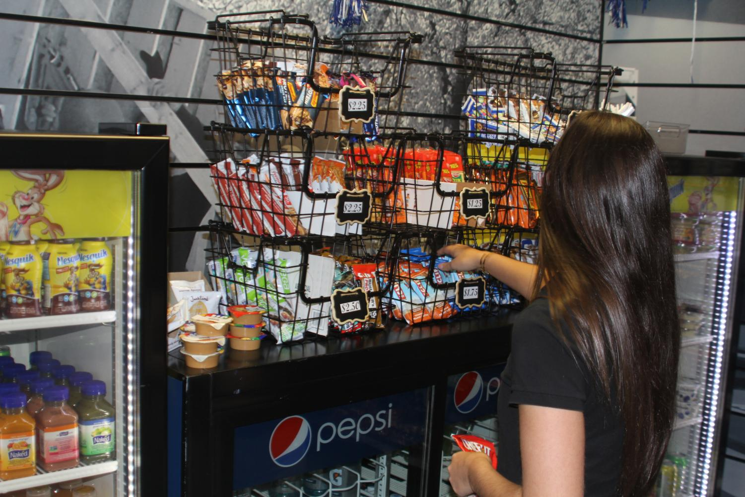Prices on baskets of snacks at Wings reflect higher prices this semester.