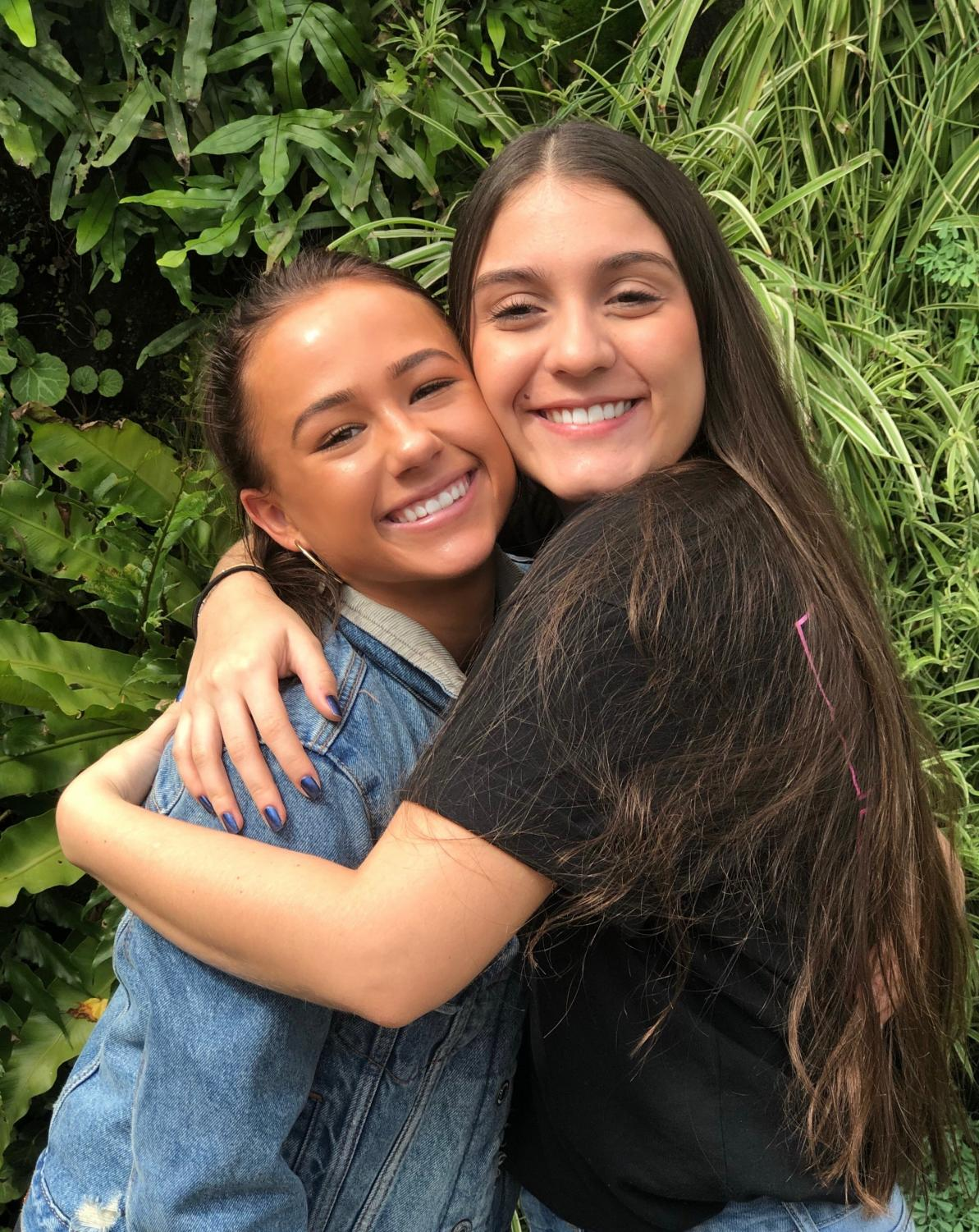 Dani Corrales, 12, has made new friends quickly during her semester at LCA. Ella Wilson, 12, is just one of them.