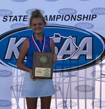 Laney Frye, 11, is Miss Kentucky Golf 2018, after winning the individual state title.  She was also named to the All State First Team.