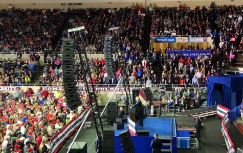 President Trump campaigns for Republicans and Congressman Andy Barr in Richmond, Kentucky.