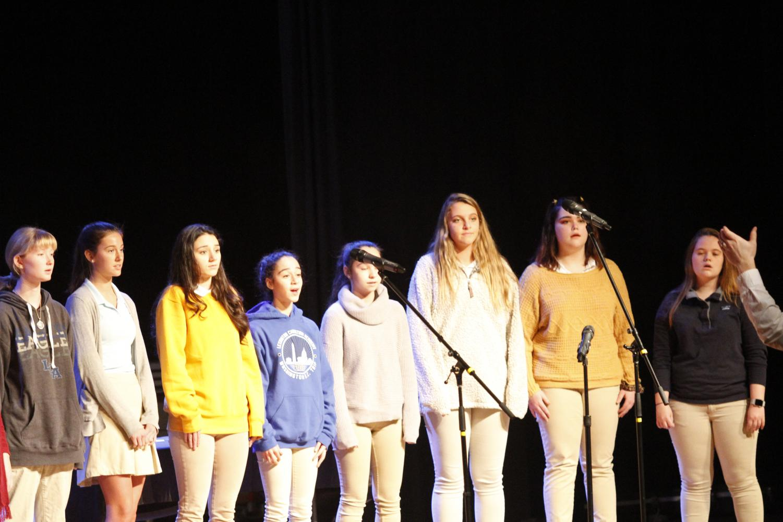 Treble Chamber Choir performs in Chapel on Nov. 7.