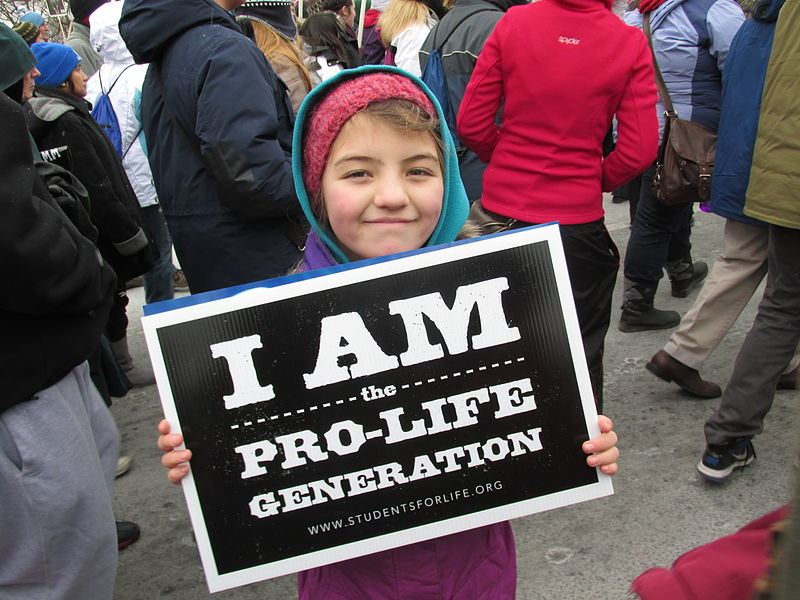 All ages of Pro-Life supporters took part in the March for Life.