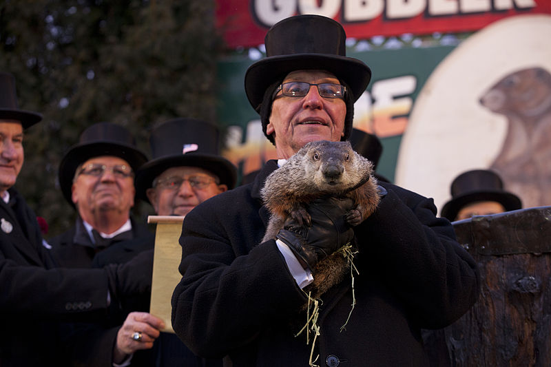 Punxsutawney+Phil+emerges+to+predict+how+much+longer+we+will+face+winter+weather.