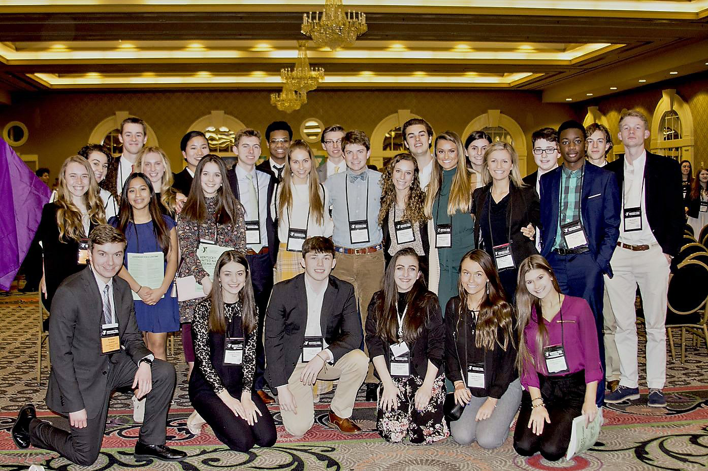 Nearly 30 students attended KUNA, a model United Nations program, in Louisville.