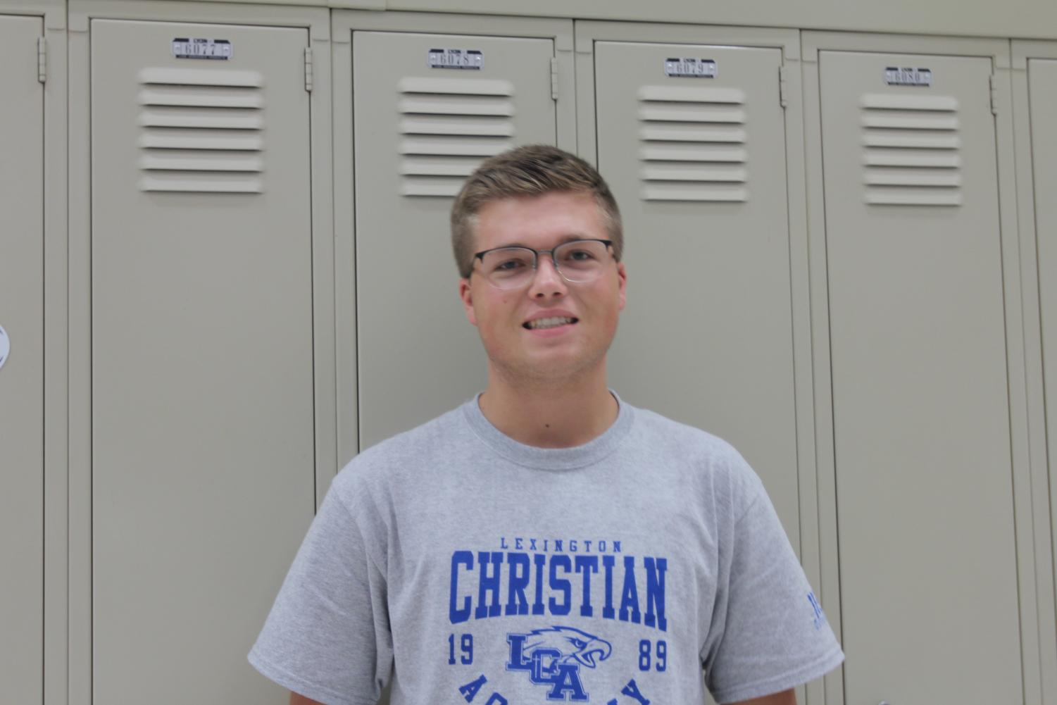 Nathan Maggard is the student council president.