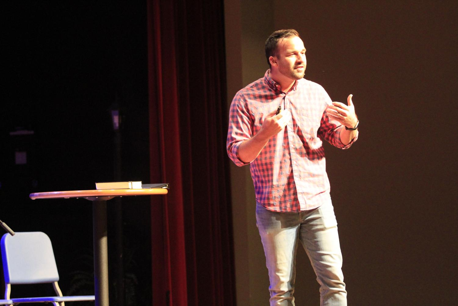Ian Schweitzer, Youth Pastor at Southland's Georgetown campus, talks to students about God's labels.