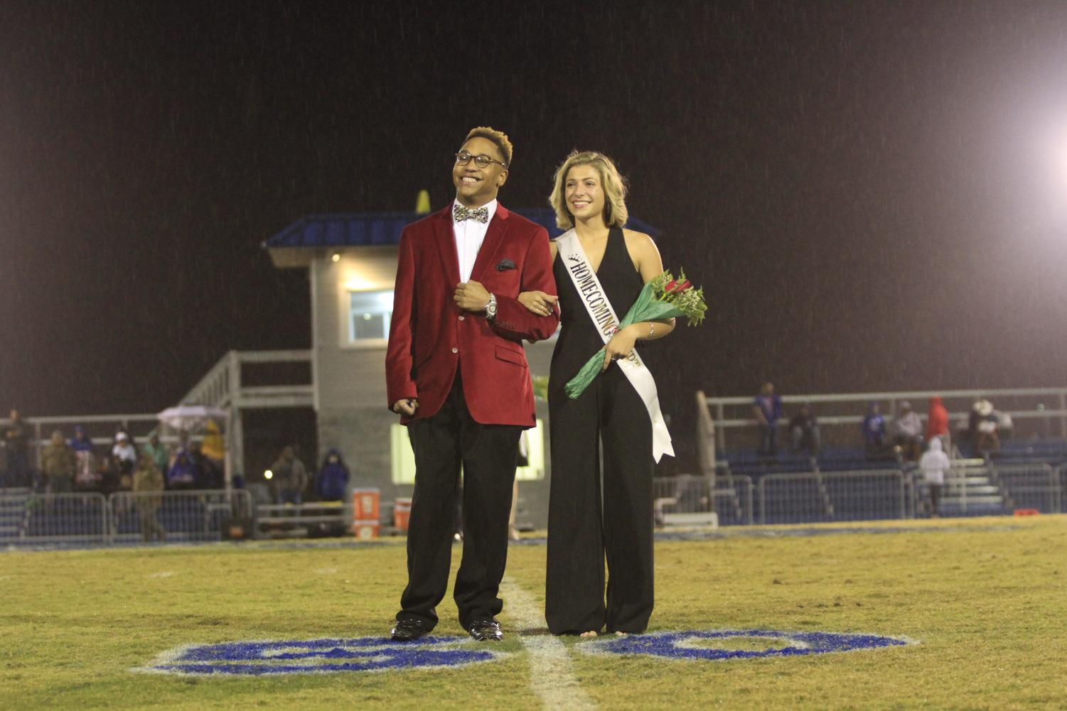 2019 Homecoming King C. Charles Johnson, 12, and Sydney Colon, 12.