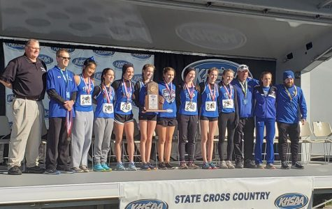 Womens' Eagle XC Team Runs into State