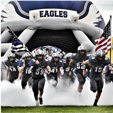 The Eagles burst onto the field, ready for an exciting season.