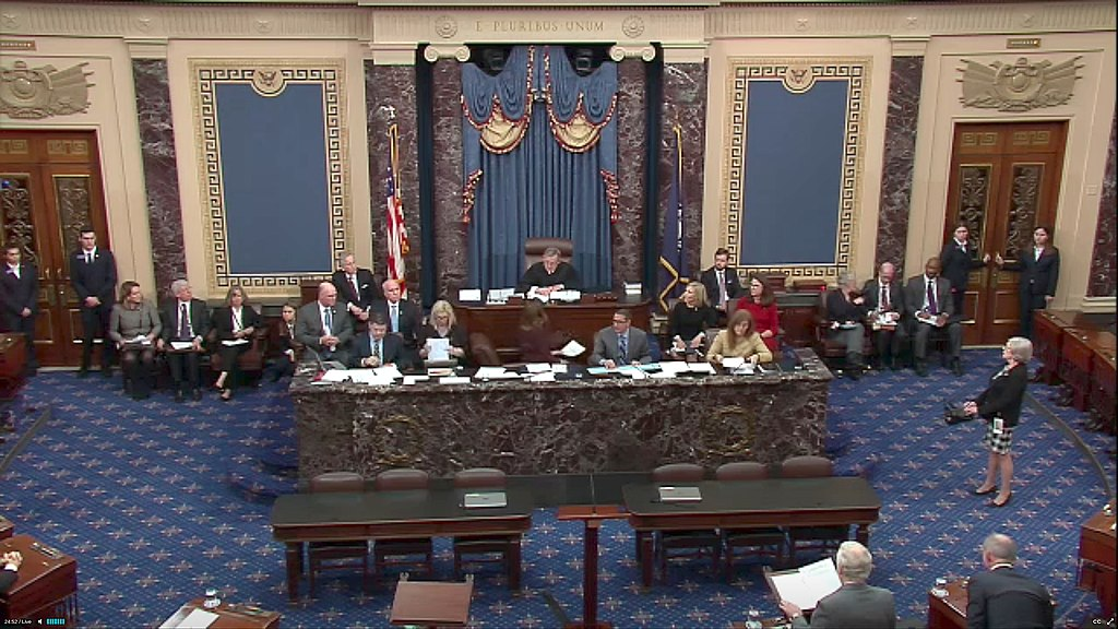 Chief Justice John Roberts presides over impeachment trial in the Senate.