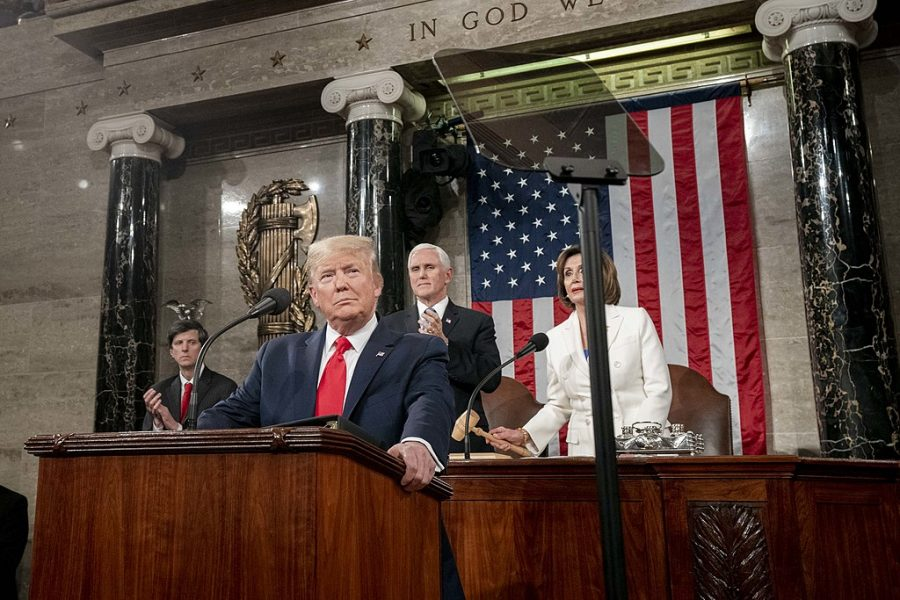 President+Trump+addresses+the+joint+session+of+Congress+for+the+State+of+the+Union+speech.
