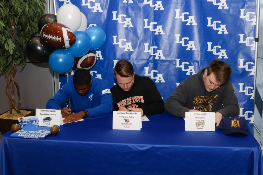 Three Seniors Sign to Play Football in College