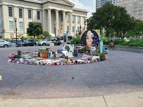 Breonna Taylor memorial in downtown Louisville.