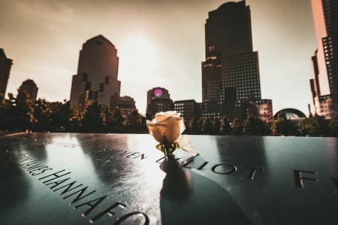 The New York City 9/11 memorial.