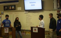 Dr. Parks students debate tough issues from a Democrat and Republican perspective.