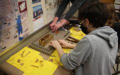 The sophomore Bible classes continue the tradition of constructing the Tabernacle.