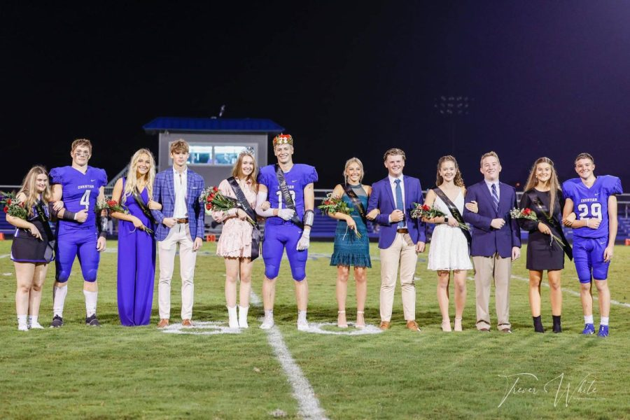The Homecoming Court was presented at halftime of the Homecoming game on Friday Oct. 15.